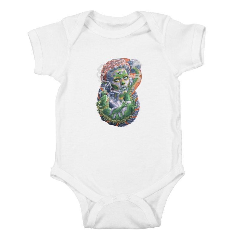Mary Jane Catrina Kids Baby Bodysuit by Ayota Illustration Shop