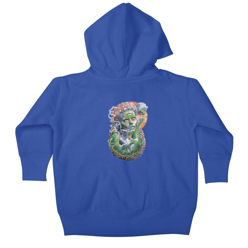 Mary Jane Catrina Kids Baby Zip-Up Hoody by Ayota Illustration Shop