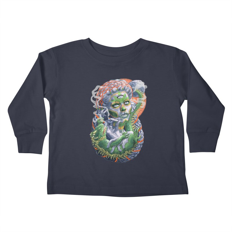 Mary Jane Catrina Kids Toddler Longsleeve T-Shirt by Ayota Illustration Shop