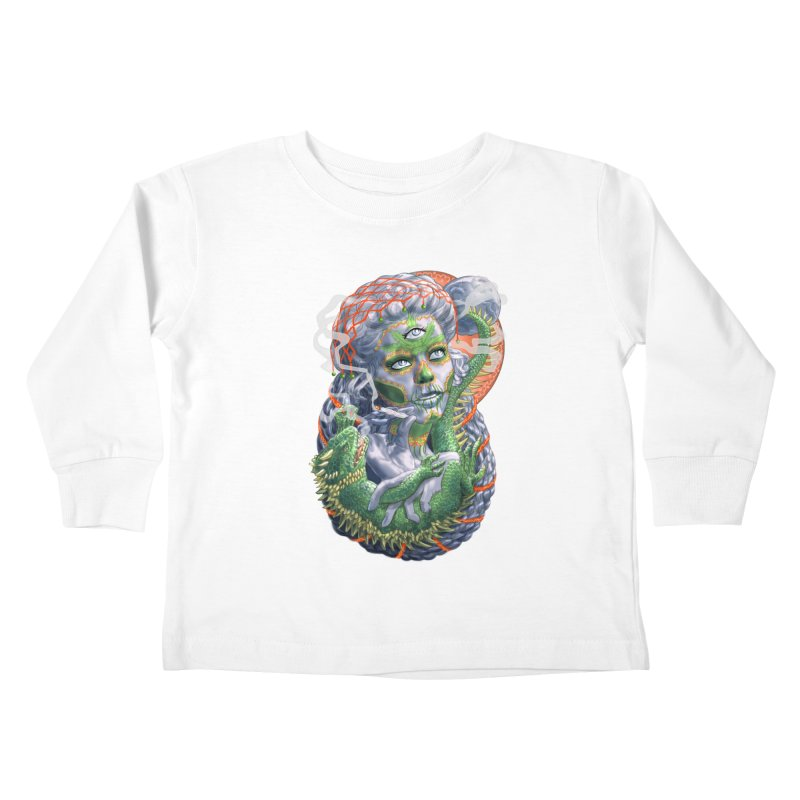 Mary Jane Catrina Kids Toddler Longsleeve T-Shirt by Ayota Illustration Shop
