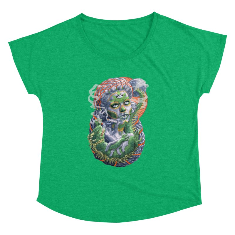 Mary Jane Catrina Women's Dolman Scoop Neck by Ayota Illustration Shop