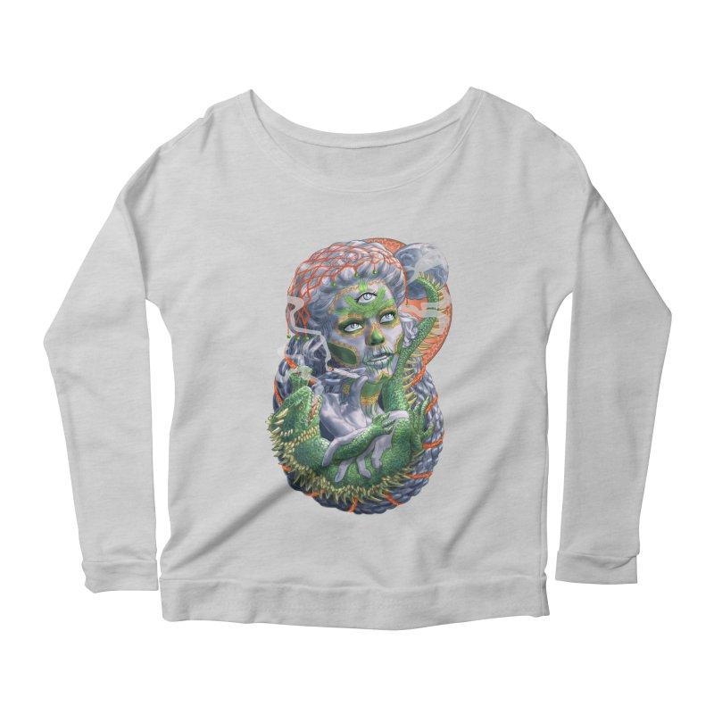 Mary Jane Catrina Women's Scoop Neck Longsleeve T-Shirt by Ayota Illustration Shop