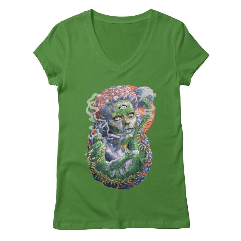 Mary Jane Catrina Women's V-Neck by Ayota Illustration Shop