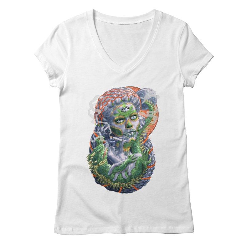 Mary Jane Catrina Women's Regular V-Neck by Ayota Illustration Shop