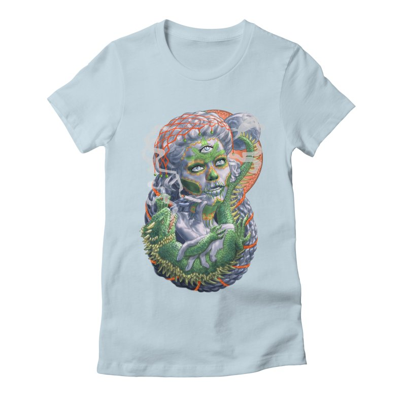 Mary Jane Catrina Women's Fitted T-Shirt by Ayota Illustration Shop