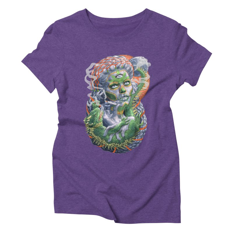 Mary Jane Catrina Women's Triblend T-Shirt by Ayota Illustration Shop