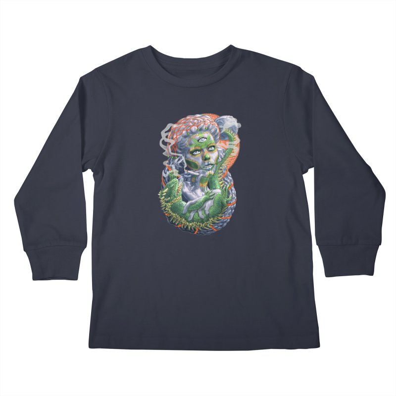 Mary Jane Catrina Kids Longsleeve T-Shirt by Ayota Illustration Shop