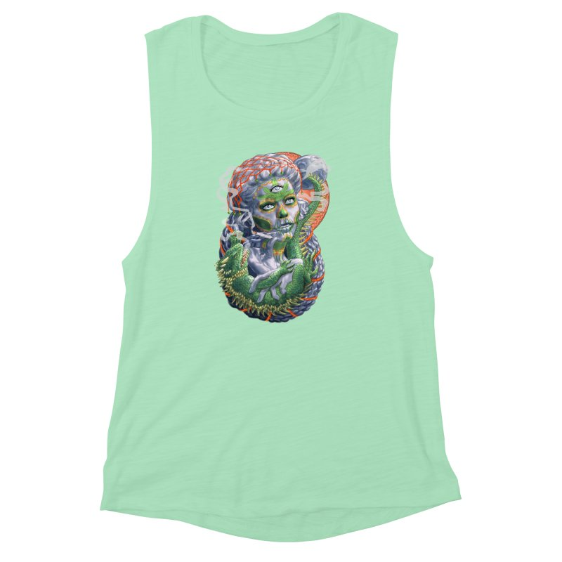 Mary Jane Catrina Women's Muscle Tank by Ayota Illustration Shop