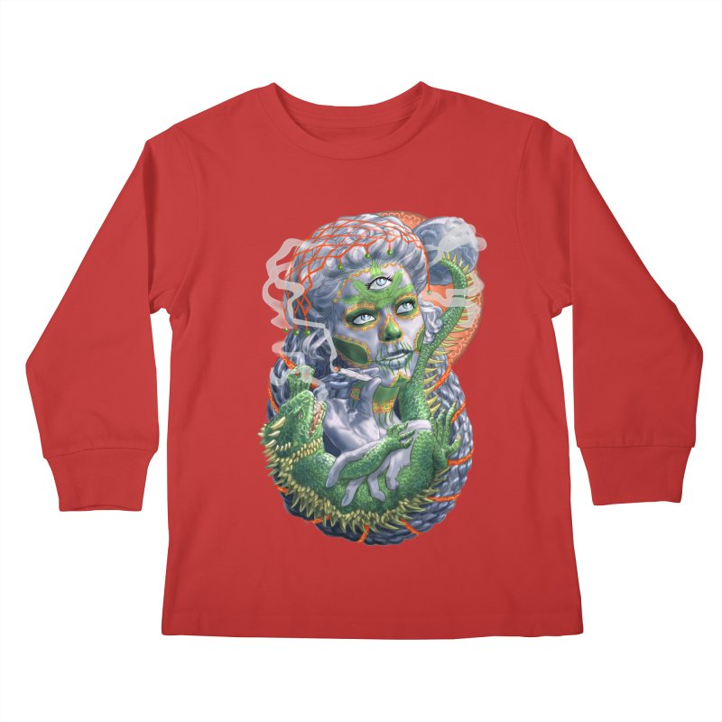 Mary Jane Catrina Kids Longsleeve T-Shirt by Ayota Illustration Shop