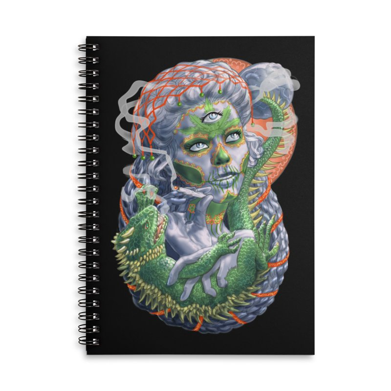 Mary Jane Catrina Accessories Lined Spiral Notebook by Ayota Illustration Shop