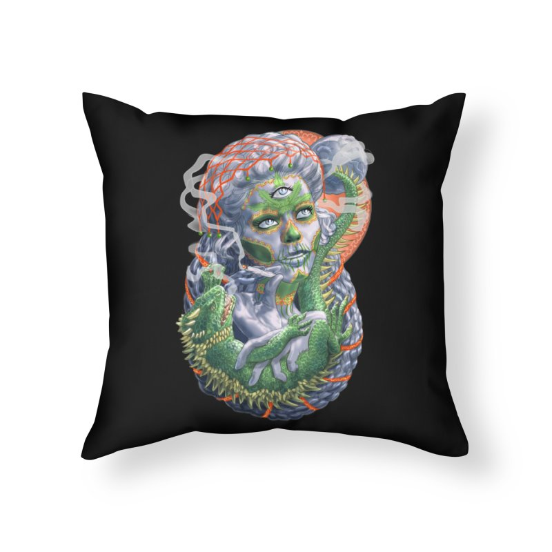 Mary Jane Catrina Home Throw Pillow by Ayota Illustration Shop