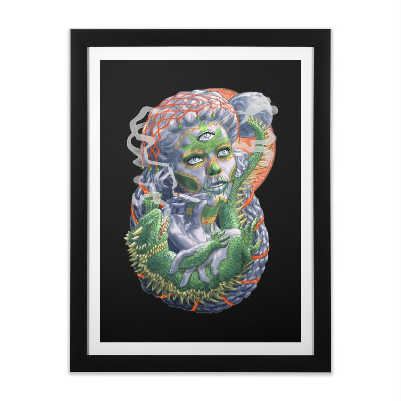 Mary Jane Catrina Home Framed Fine Art Print by Ayota Illustration Shop