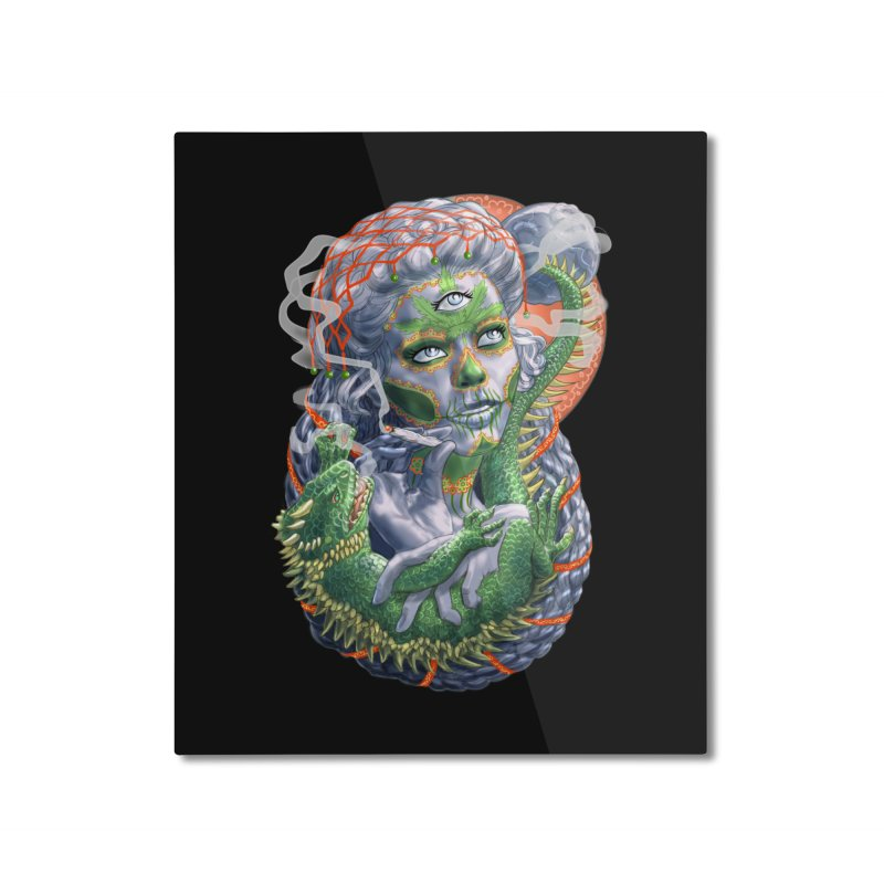 Mary Jane Catrina Home Mounted Aluminum Print by Ayota Illustration Shop