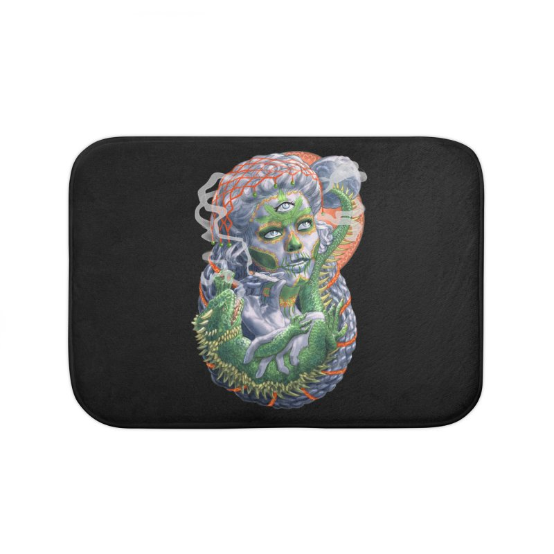 Mary Jane Catrina Home Bath Mat by Ayota Illustration Shop