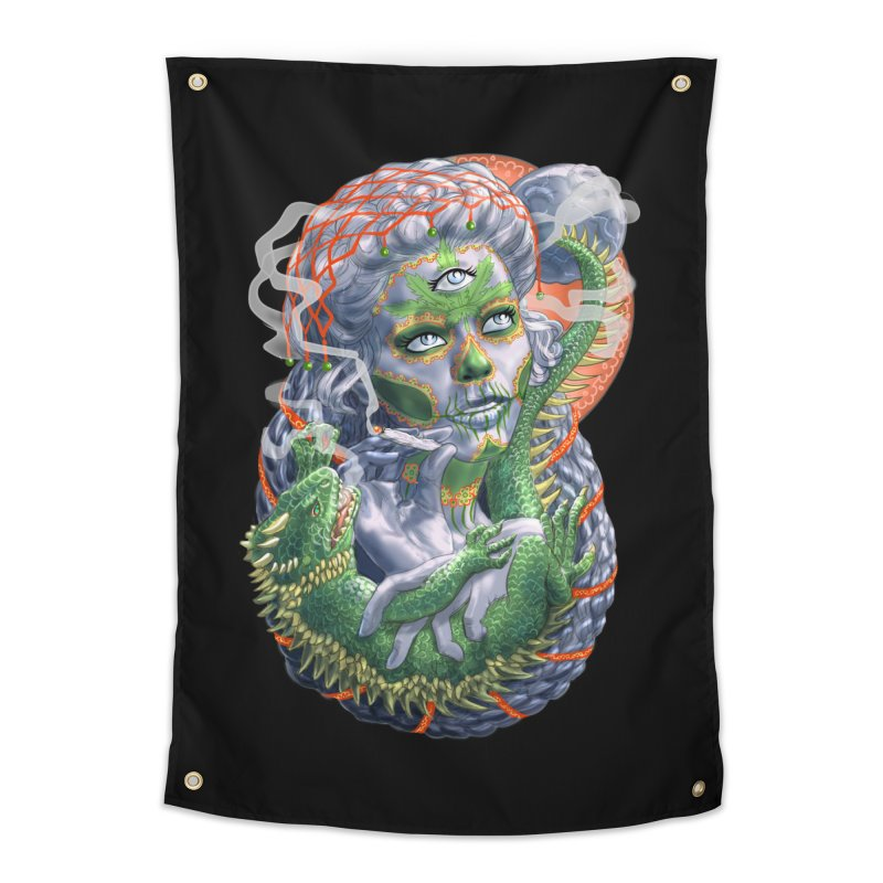 Mary Jane Catrina Home Tapestry by Ayota Illustration Shop