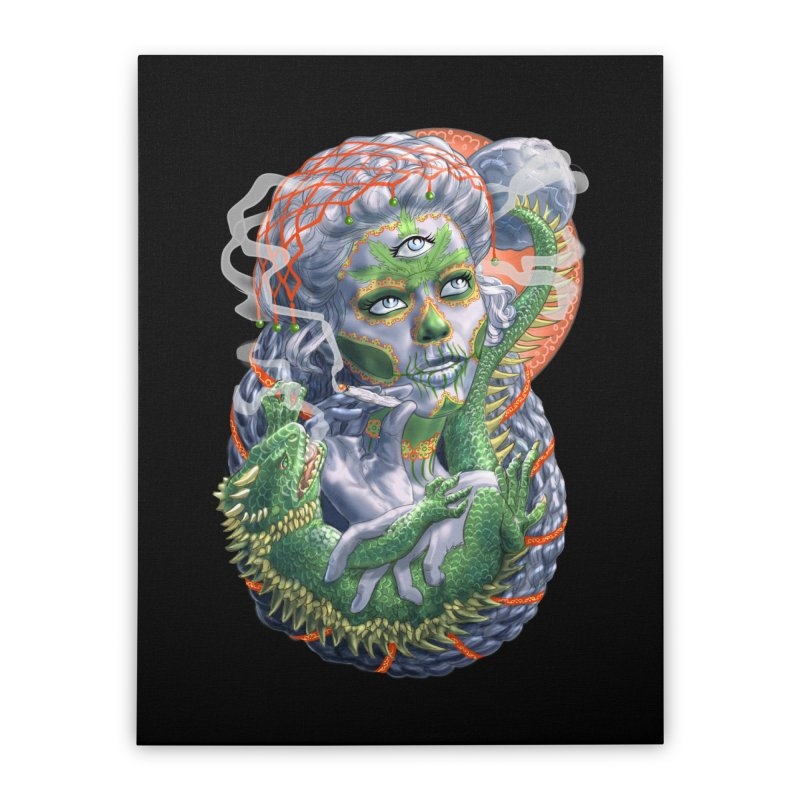Mary Jane Catrina Home Stretched Canvas by Ayota Illustration Shop