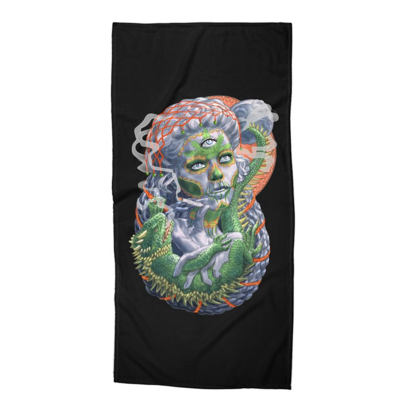 Mary Jane Catrina Accessories Beach Towel by Ayota Illustration Shop