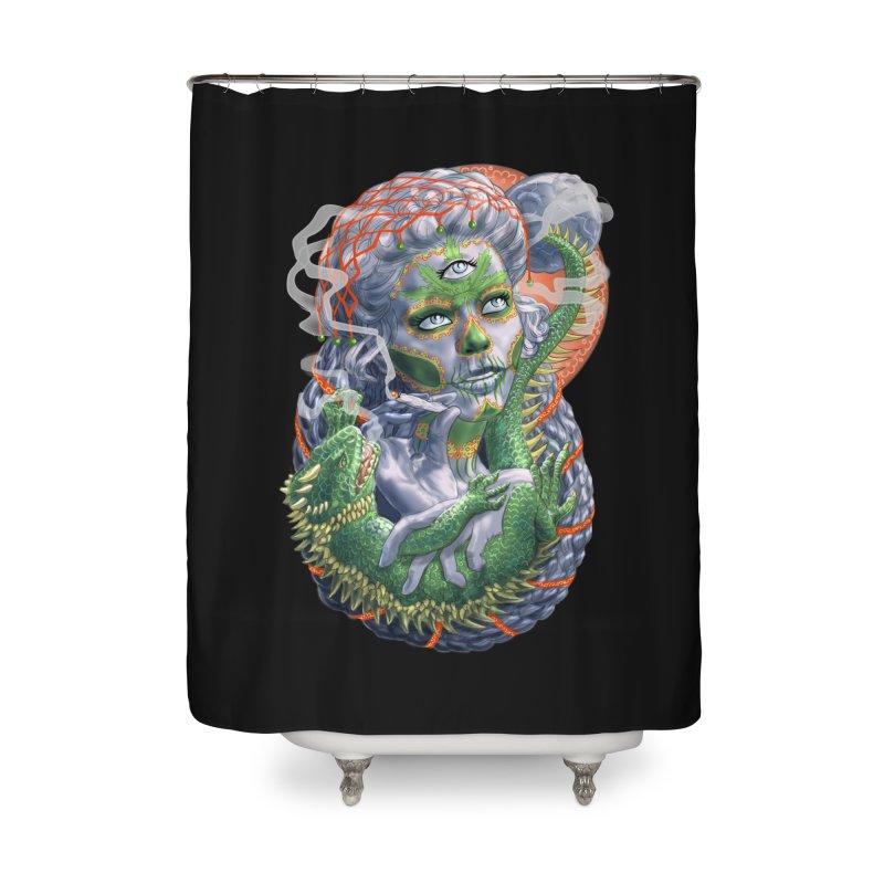 Mary Jane Catrina Home Shower Curtain by Ayota Illustration Shop