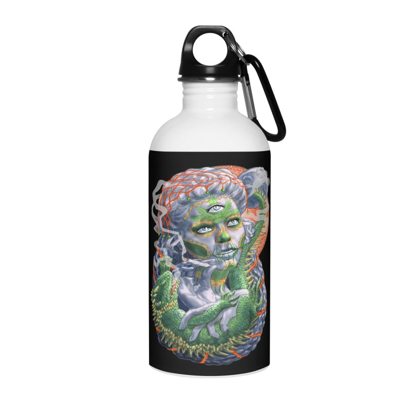 Mary Jane Catrina Accessories Water Bottle by Ayota Illustration Shop