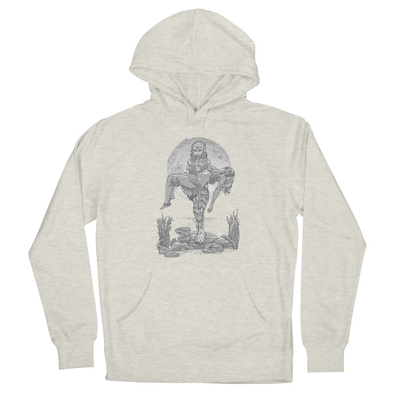 She Creature from the Black Lagoon Black & White Men's Pullover Hoody by Ayota Illustration Shop