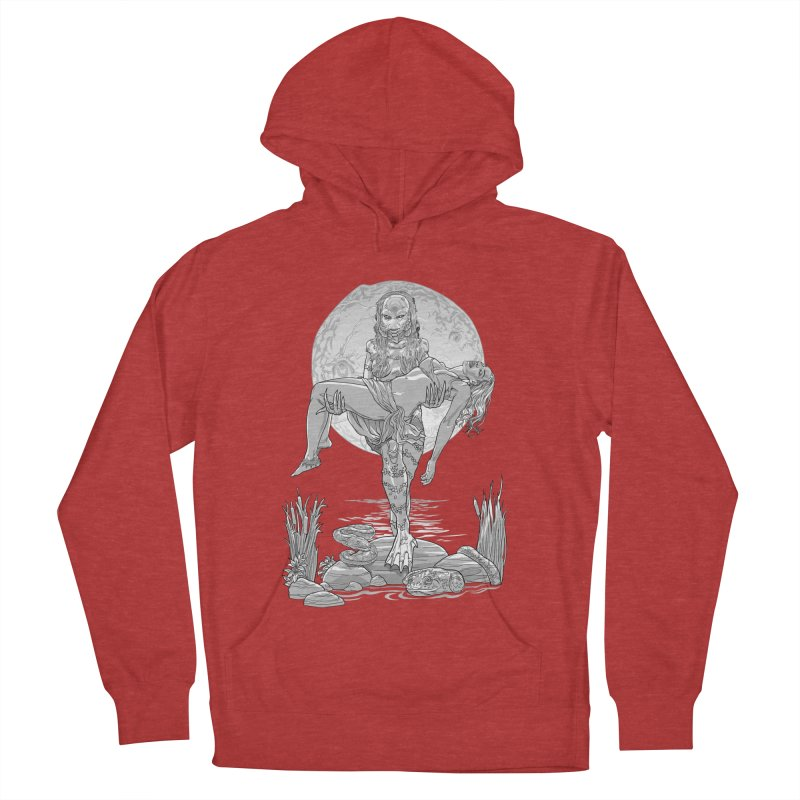 She Creature from the Black Lagoon Black & White Women's Pullover Hoody by Ayota Illustration Shop