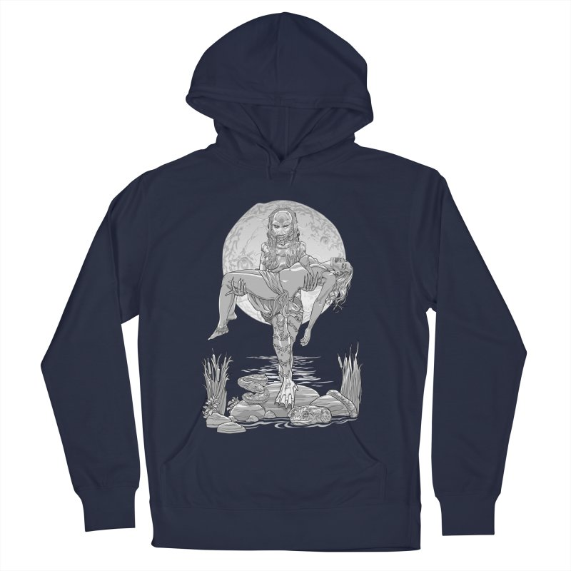 She Creature from the Black Lagoon Black & White Women's French Terry Pullover Hoody by Ayota Illustration Shop