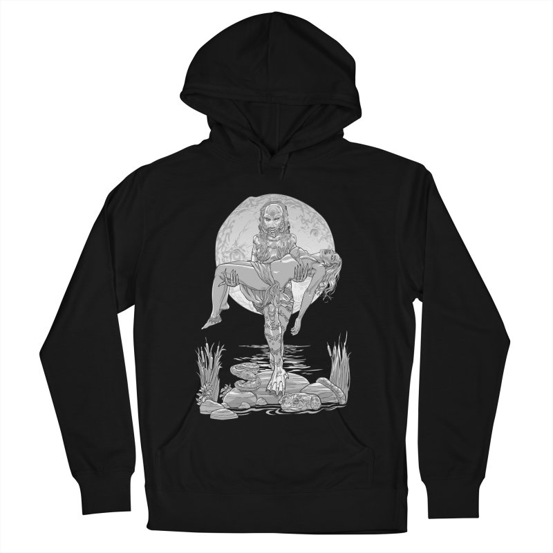 She Creature from the Black Lagoon Black & White Men's French Terry Pullover Hoody by Ayota Illustration Shop