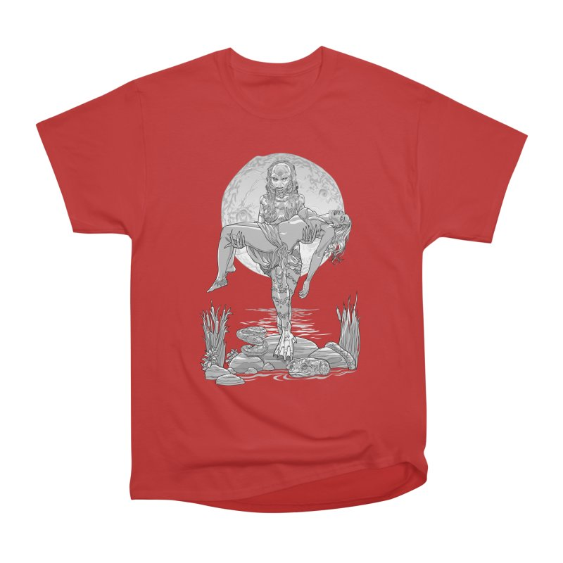 She Creature from the Black Lagoon Black & White Men's Heavyweight T-Shirt by Ayota Illustration Shop