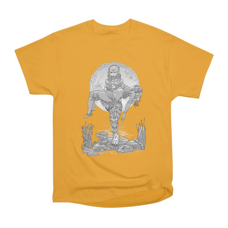 She Creature from the Black Lagoon Black & White Women's Heavyweight Unisex T-Shirt by Ayota Illustration Shop