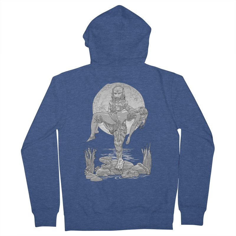 She Creature from the Black Lagoon Black & White Women's Zip-Up Hoody by Ayota Illustration Shop