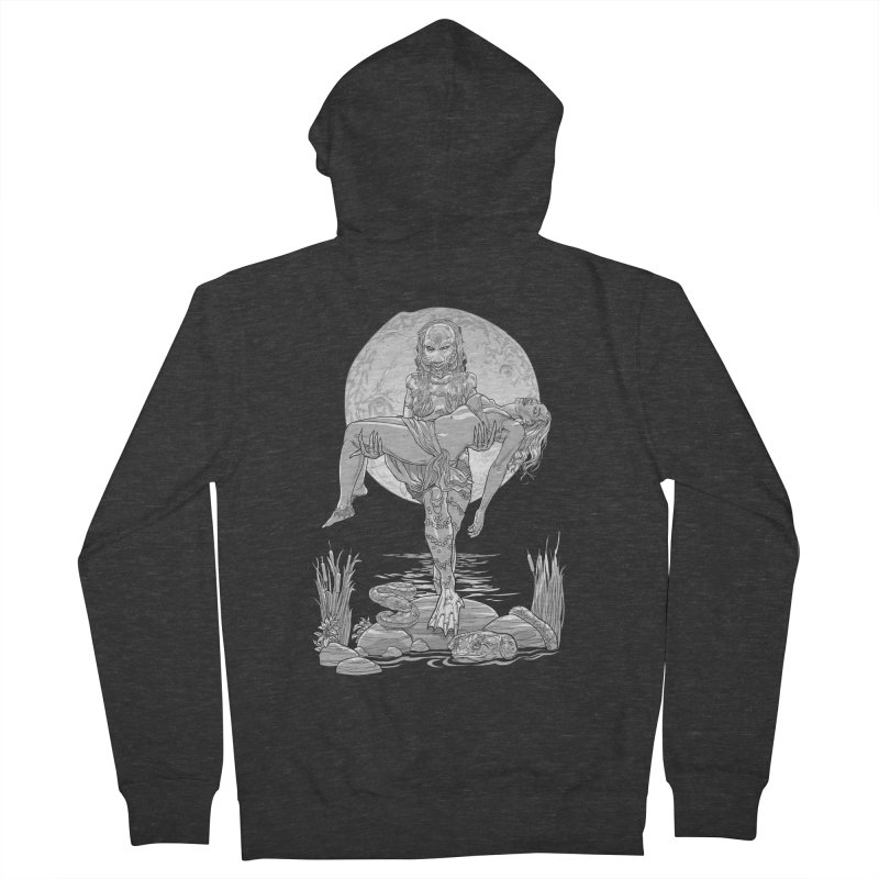 She Creature from the Black Lagoon Black & White Men's Zip-Up Hoody by Ayota Illustration Shop