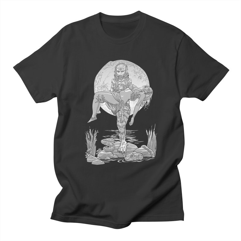 She Creature from the Black Lagoon Black & White Men's T-Shirt by Ayota Illustration Shop