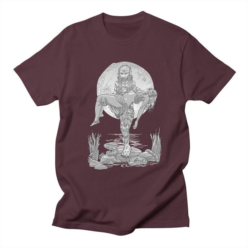 She Creature from the Black Lagoon Black & White Men's Regular T-Shirt by Ayota Illustration Shop