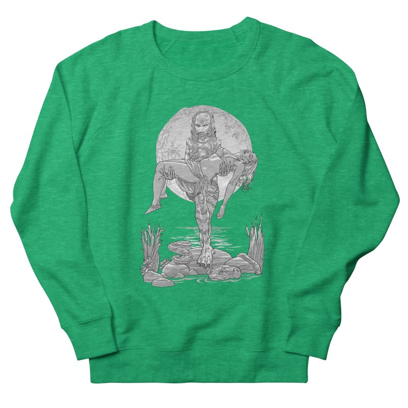 She Creature from the Black Lagoon Black & White Women's Sweatshirt by Ayota Illustration Shop