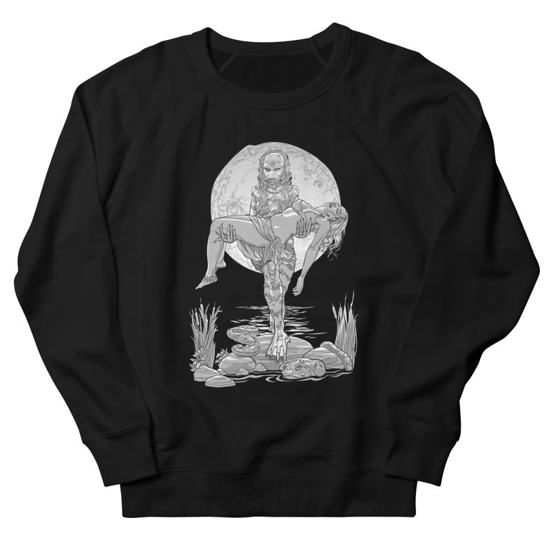 She Creature from the Black Lagoon Black & White Men's Sweatshirt by Ayota Illustration Shop