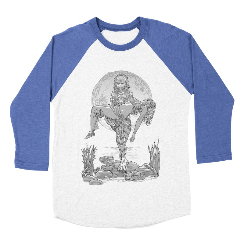 She Creature from the Black Lagoon Black & White Women's Baseball Triblend T-Shirt by Ayota Illustration Shop