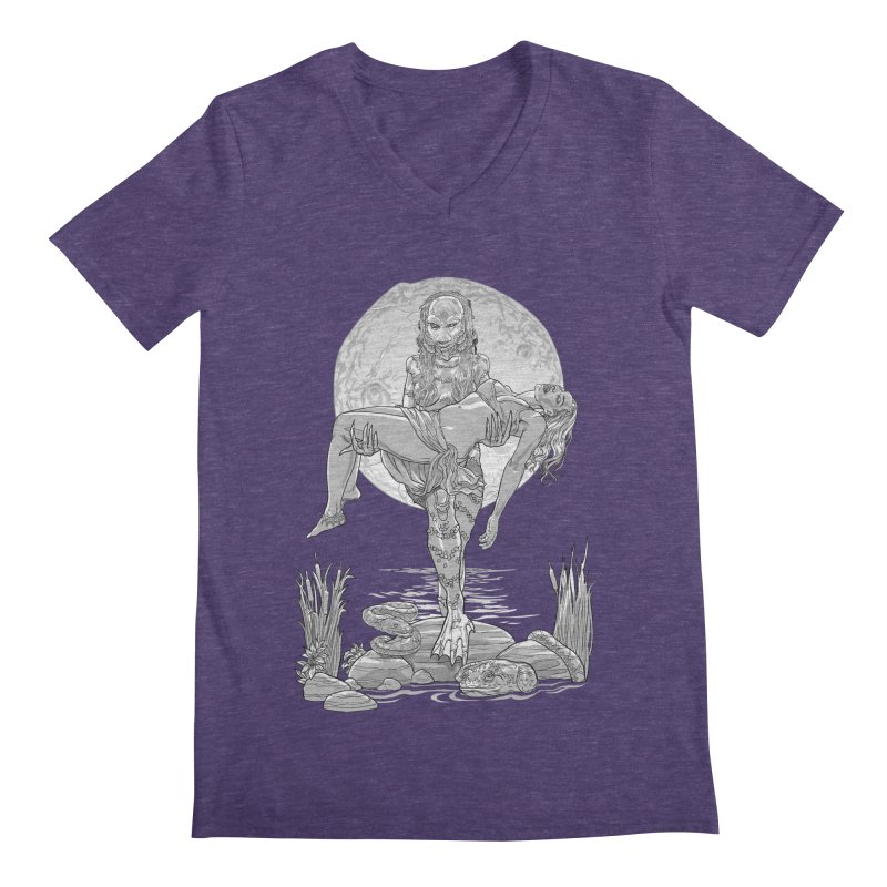 She Creature from the Black Lagoon Black & White Men's V-Neck by Ayota Illustration Shop