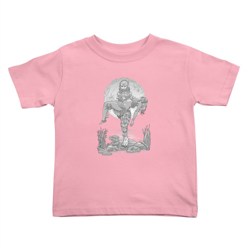 She Creature from the Black Lagoon Black & White Kids Toddler T-Shirt by Ayota Illustration Shop