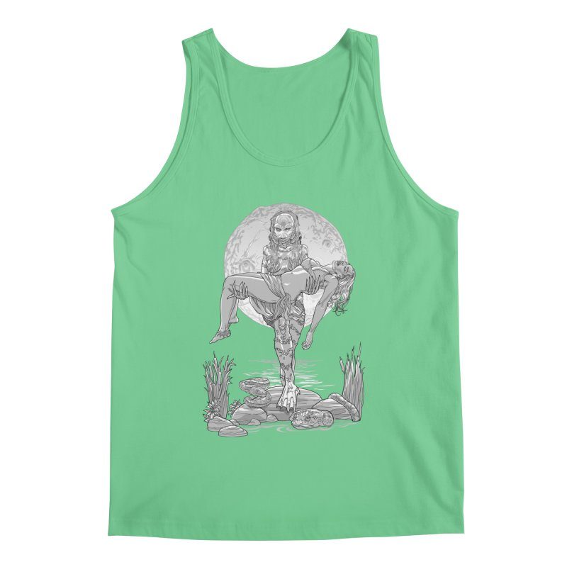 She Creature from the Black Lagoon Black & White Men's Regular Tank by Ayota Illustration Shop