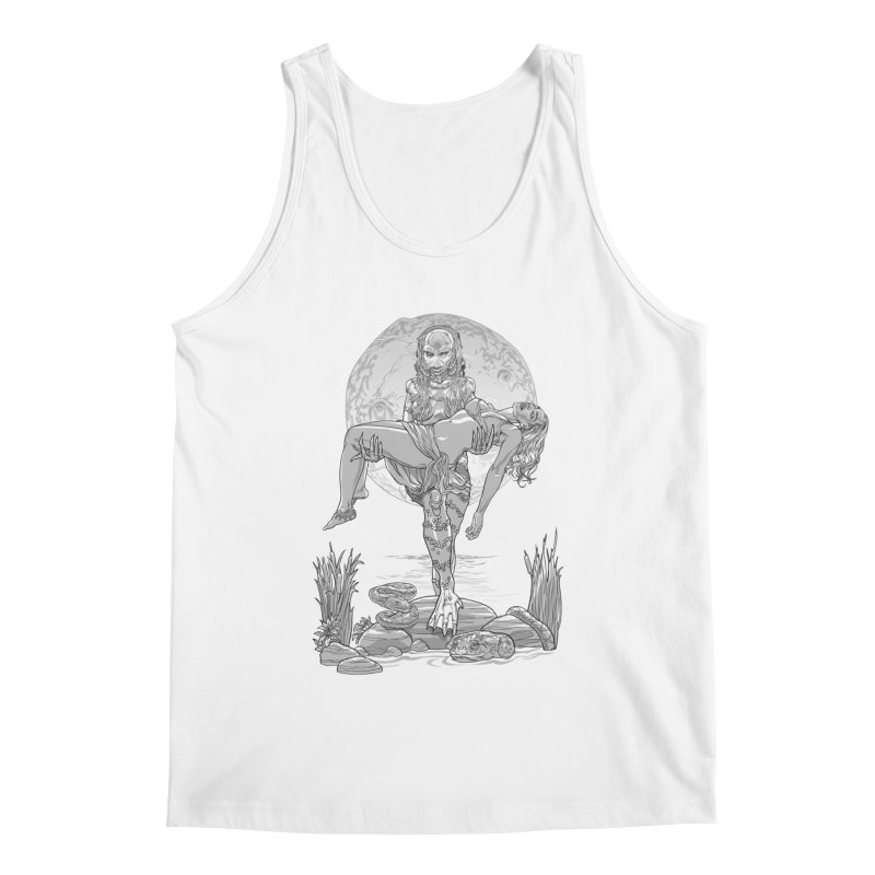 She Creature from the Black Lagoon Black & White Men's Tank by Ayota Illustration Shop