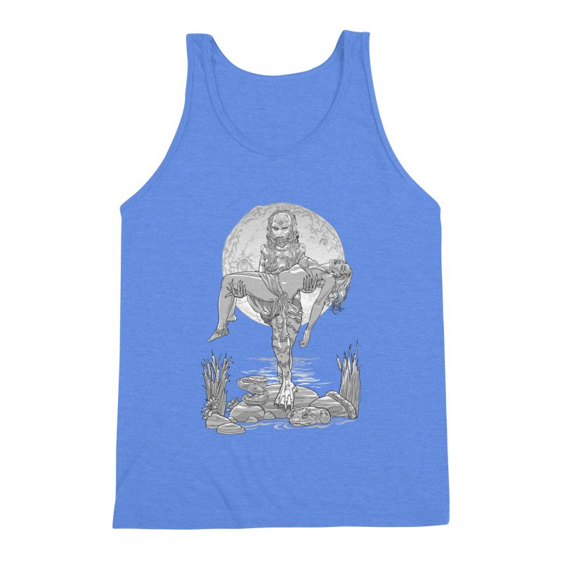 She Creature from the Black Lagoon Black & White Men's Triblend Tank by Ayota Illustration Shop