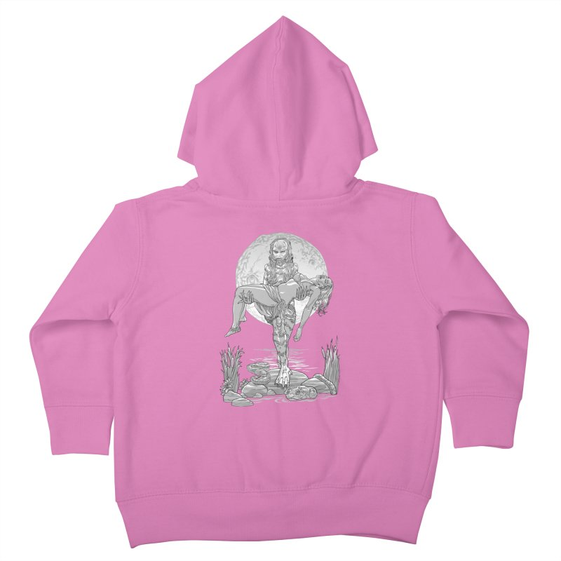 She Creature from the Black Lagoon Black & White Kids Toddler Zip-Up Hoody by Ayota Illustration Shop
