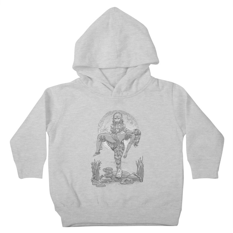 She Creature from the Black Lagoon Black & White Kids Toddler Pullover Hoody by Ayota Illustration Shop