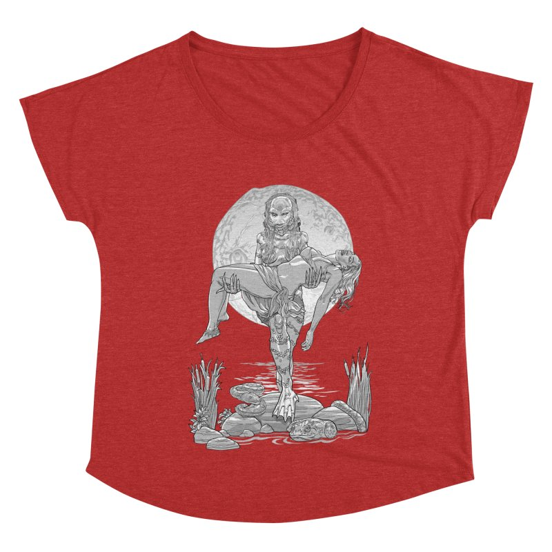 She Creature from the Black Lagoon Black & White Women's Dolman Scoop Neck by Ayota Illustration Shop