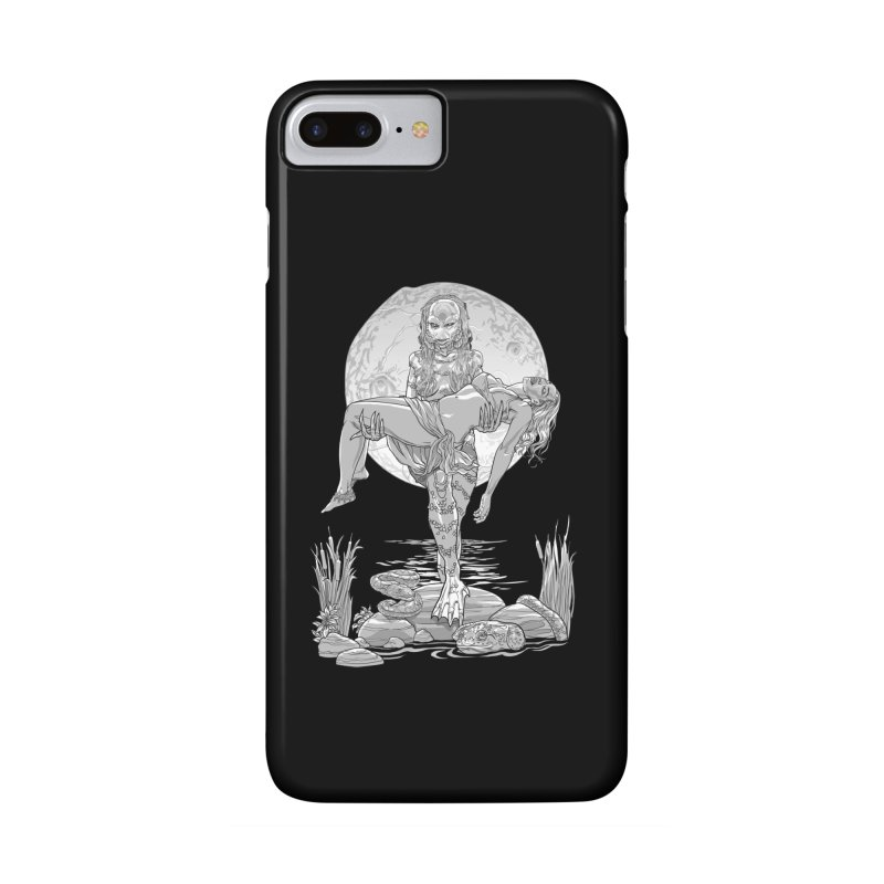 She Creature from the Black Lagoon Black & White Accessories Phone Case by Ayota Illustration Shop