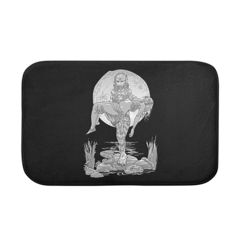 She Creature from the Black Lagoon Black & White Home Bath Mat by Ayota Illustration Shop