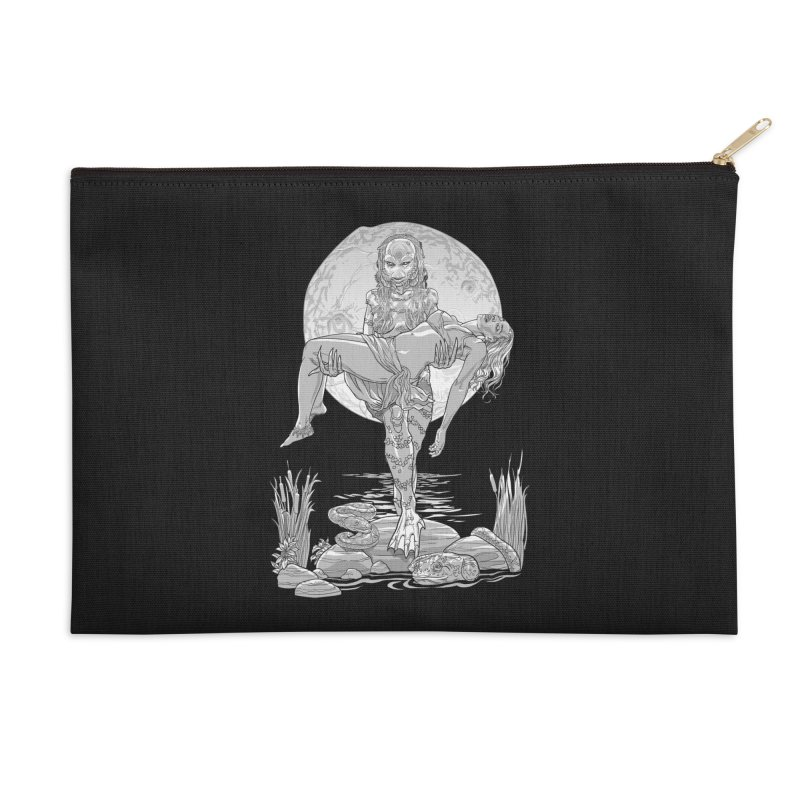 She Creature from the Black Lagoon Black & White Accessories Zip Pouch by Ayota Illustration Shop