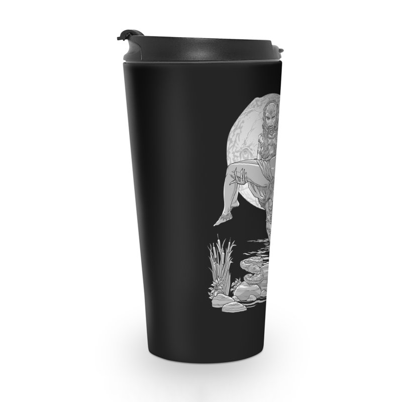 She Creature from the Black Lagoon Black & White Accessories Mug by Ayota Illustration Shop