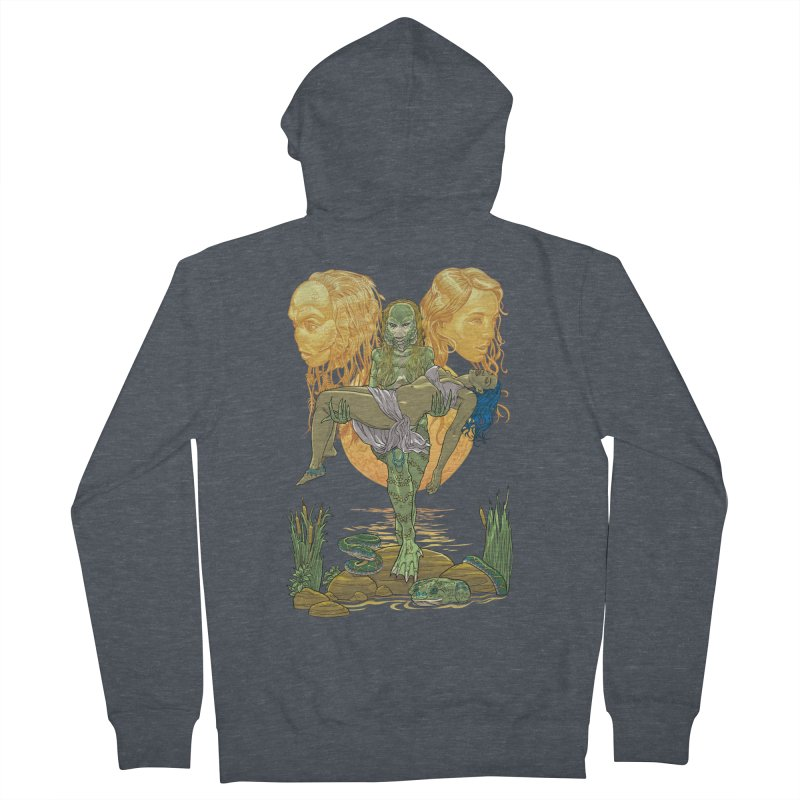 She Creature Men's French Terry Zip-Up Hoody by Ayota Illustration Shop