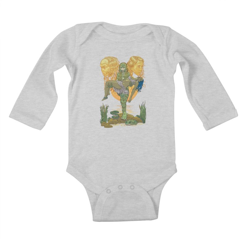 She Creature Kids Baby Longsleeve Bodysuit by Ayota Illustration Shop